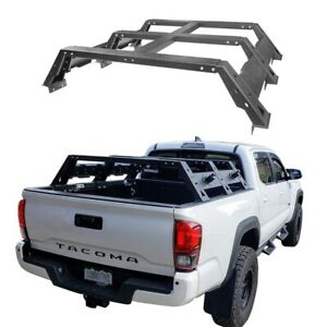 For 2005 2021 Toyota Tacoma Steel Black High Bed Rack Luggage Carrier Holder