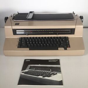 Vintage Ibm Correcting Selectric Iii 3 Electric Type Writer Tan Working See Pics