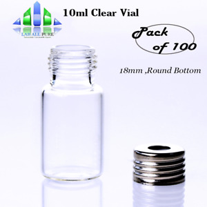 100pcs 10ml 18mm Sample Vial Clear Glass Auto Sampler Screw Top Vial Gc Supplier