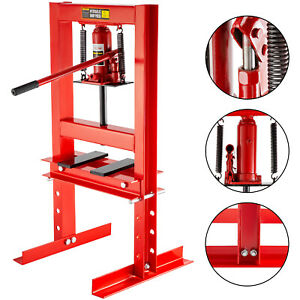 6 Ton Hydraulic Shop Press Floor Stand Jack Manganese Spring Bench Top Mount