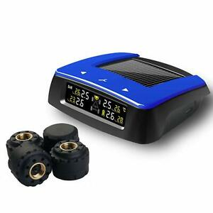 Vesafe Universal Solar Tpms Wireless Tire Pressure Monitoring System With 4 Diy