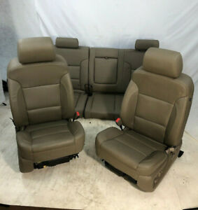 2015 2018 Chevy Silverado Gmc Sierra Oem Front Rear Heated Cooled Leather Seats