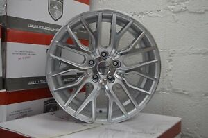 4 Flare 20 Inch Silver Rims Et20 Fits Jeep Grand Cherokee Overland 2014