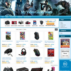 Video Game Store Online Affiliate Business Website For Sale Free Domain Name