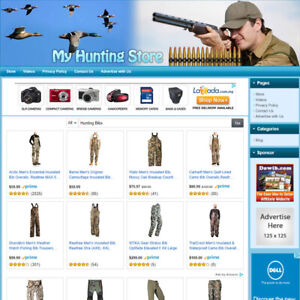 Hunting Store Professionally Designed High Income Affiliate Website For Sale