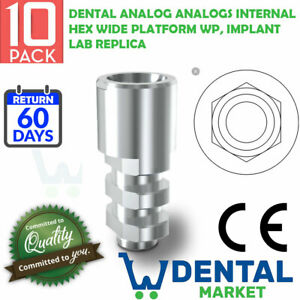 10 X Dental Analog Analogs Internal Hex Wide Platform Wp Implant Lab Replica