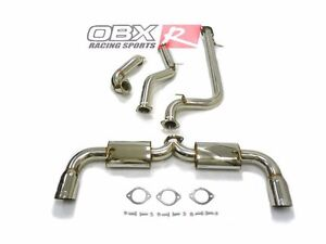 Obx Exhaust Catback Fits For 2010 Thru 2013 Mazda 3 Mazdaspeed 2 3l Dual Exit