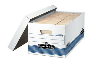 Bankers Box Legal Size File Storage Box 15 X 10 X 24 In Holds 700 Lb White