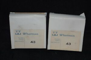 2 Whatman Filter Papers 43 Ashless 125mm 100 Count 1443 125