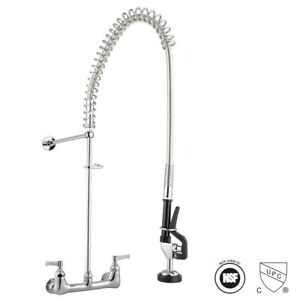 Commercial pull down kitchen sink brass chrome faucet pre rinse Device Spray