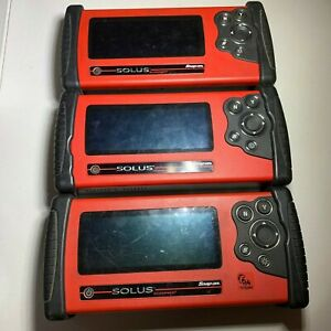 Lot Of 3 Snapon Solus Scanners