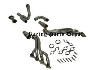 Obx Long Tube Exhaust Headers 07 10 Chevy Truck Suv 2500hd 6 0l