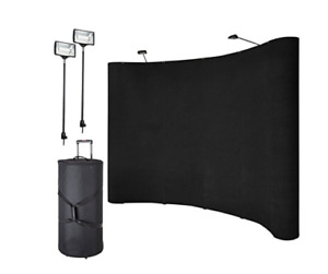 Pinty 10 Pop Up Trade Show Display Booth With Lighting Case New