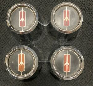 Set Of 4 1973 1988 Oldsmobile Cutlass 442 P N 416393 Factory Oem Center Cap Yy
