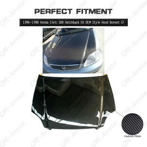 Carbon Fiber Oem Style Hood Bonnet Kit For 96 98 Honda Civic 3dr Hatchback Ek