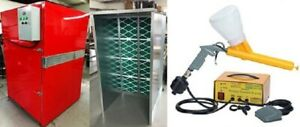 Powder Coat Complete Turnkey System Large Oven 5x7
