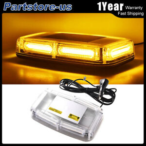 30w 6 Cob Led Emergency Flash Warning Roof Top Strobe Light Bar Amber Car Truck