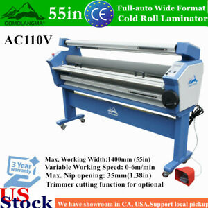 Qomolangma 55in Wide Format Cold Roll Laminator Full auto With Heat Assisted Us