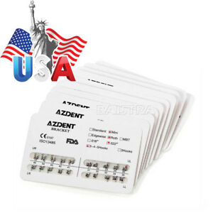 30 Kits Dental Orthodontics Metal Bracket Brace Mini Roth 022 3 4 5 Hooks Azdent