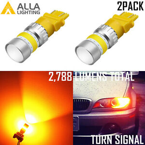 Alla Lighting Yellow Led Turn Signal Taillight Brake Light Bulb For Ford Lincoln