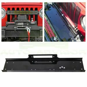 36 Universal Recovery Winch Mounting Plate Mount Bracket Truck Trailer 13000lbs