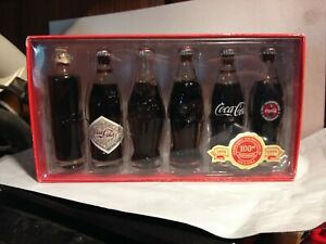 LIMITED EDITION COCA-COLA 100 YEARS OF BOTTLING MINI BOTTLES