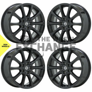 18 Nissan Murano Black Wheels Rims Factory Oem Set 4 62745