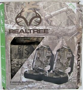 New 2pc Realtree Edge Camo Bucket Seat Covers Universal Fit Auto Car Truck Lot