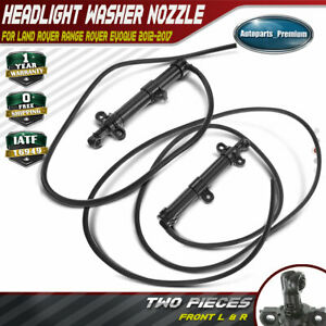 2x Headlight Washer Nozzle For Land Rover Range Rover Evoque 12 17 Front Lh