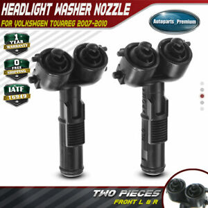 2x Headlight Washer Nozzles For Volkswagen Touareg 2007 2010 Front Left