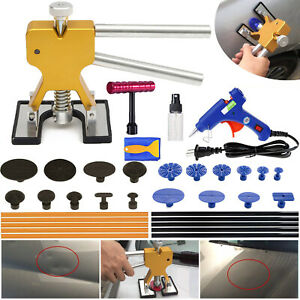 Auto Body Paintless Dent Repair Tool Car Dent Puller With Dent Lifter Glue Pul