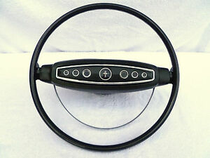 1968 Ford Mustang Standard Black Steering Wheel 68 Restored Complete Ready To On