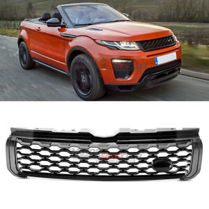 For Range Rover Evoque 2012 2018 Gloss Black Front Upper Dynamic Grill Grille