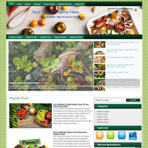 Organic Health Affiliate Online Business Website For Sale Earn Money At Home