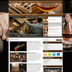 Online Cigar Affiliate Business Website For Sale Working Earn Money At Home