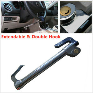 Extendable Double Hook Auto Car Anti theft Security Rotary Steering Wheel Lock