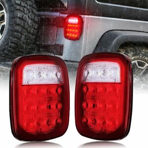 Led Tail Lights Turn Signal Rubicon Sport Offroad For 76 06 Jeep Wrangler Tj Cj