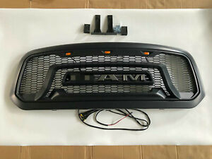 Grille Grill For Dodge Ram 1500 2013 2018 Mesh Rebel Style Abs Honeycomb Bumper