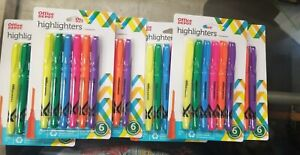 7 Packs Office Depot Brand 100 Recycled Pen style Highlighters Cheap b21