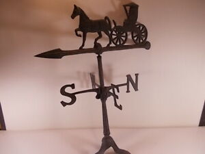 Vintage Horse Buggy Weather Vane Direction Arrow Country Farm Home 24 Inch