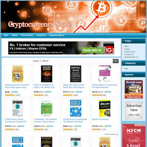 Cryptocurrency Bitcoin Store Online Affiliate Business Website Free Domain