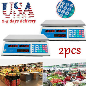 2xdigital Weight Scale Price Computing Retail Food Meat Scales Count Machine Ce