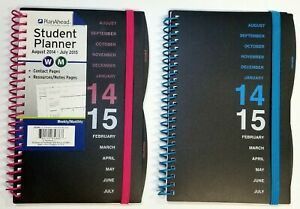 2014 2014 Student Weekly monthly Planner Calendar Colors May Vary