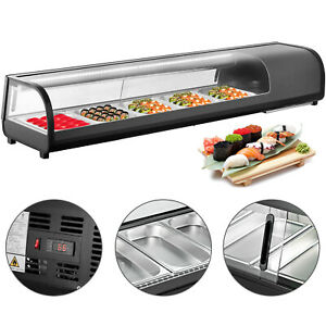 71 countertop Refrigerated Sushi Display Case Tempered Glass Rohs Gs Popular