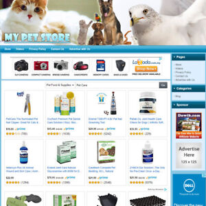 Pet Care Supplies Store Online Affiliate Business Website For Sale Free Domain