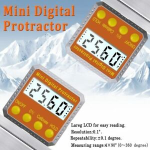 Digital Protractor Inclinometer Water Proof Level Box Digital Angle Finder Bevel