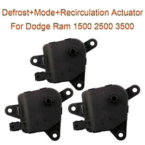 3x Hvac Heater Door Actuator For 2003 2004 2005 06 2008 Dodge Ram 1500 2500 3500