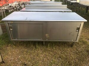 Heavy Duty 72 X 30 Stainless Steel 2 Dr Food Prep Work Table Enclosed Cabinet