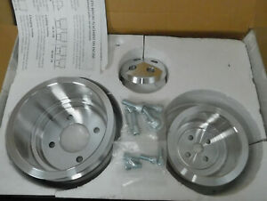March Perf 0188 Pulley Set Bb Ford 429 460 Billet Aluminum 6 Groove Serp