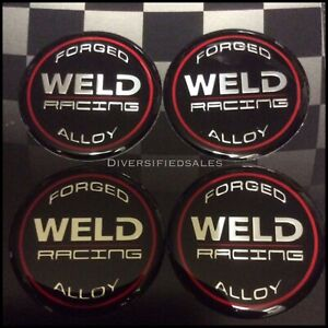 Weld Wheel Racing Decals 601 3010 Wheel Center Cap Racing Emblem 4 Pack Stickers